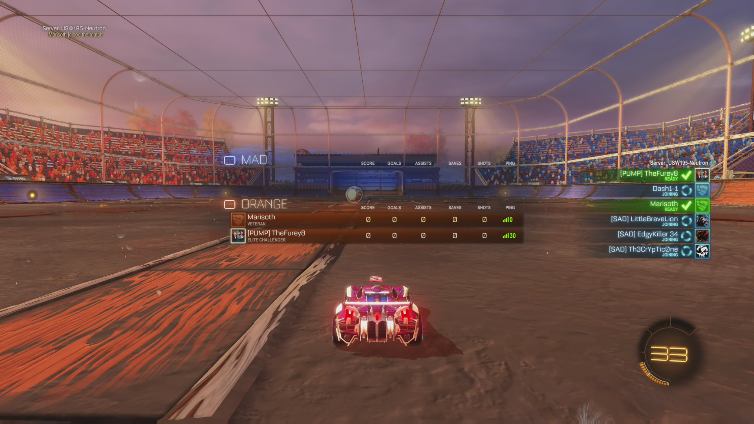 TheFurey8 playing Rocket League