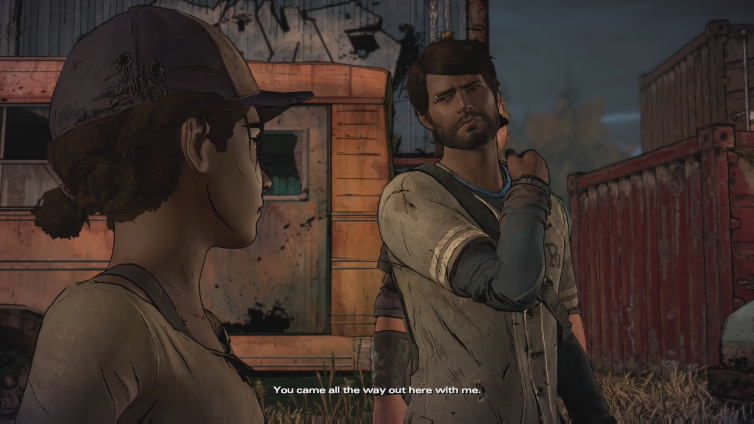Deik Cweat playing The Walking Dead: A New Frontier